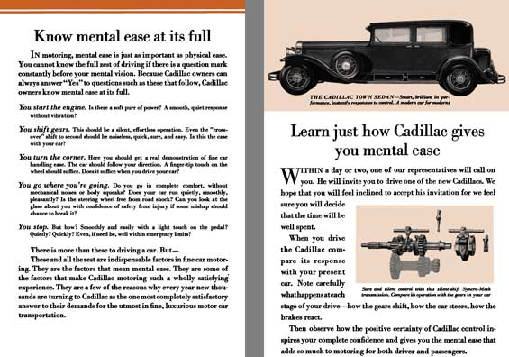Cadillac 1930 - Know mental ease at its full