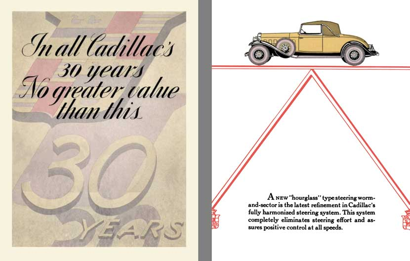 Cadillac 1931 - In all Cadillac's 30 Years, No Great Value than this 30 Years
