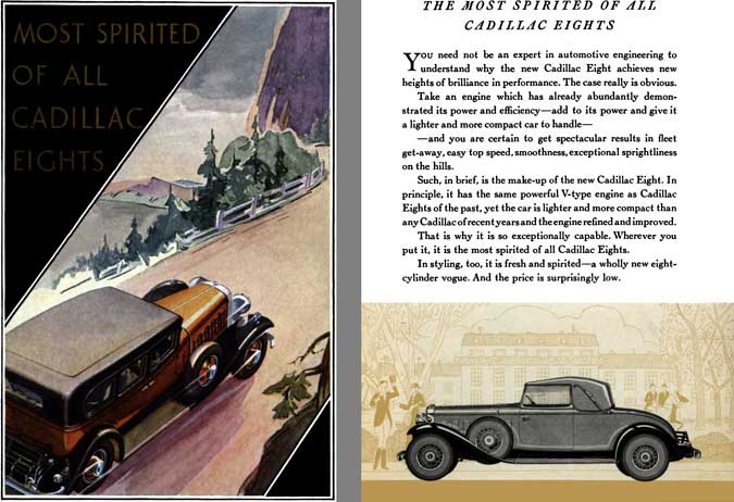 Cadillac 1931 - Most Spirited of all Cadillac Eights