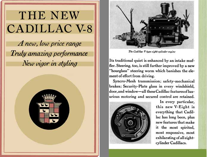 Cadillac 1931 - The New Cadillac V-8 - A new, low price range - Truly amazing performance - New ...