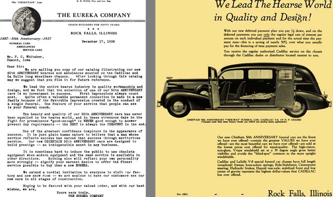 Cadillac 1937 - The Eureka Company - Coach Builders for Fifty Years