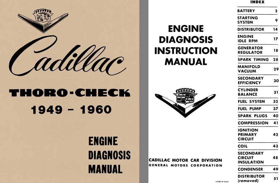 Cadillac 1949 1960 - Cadillac Thoro-Check 1949 - 1960 Engine Diagnosis Manual