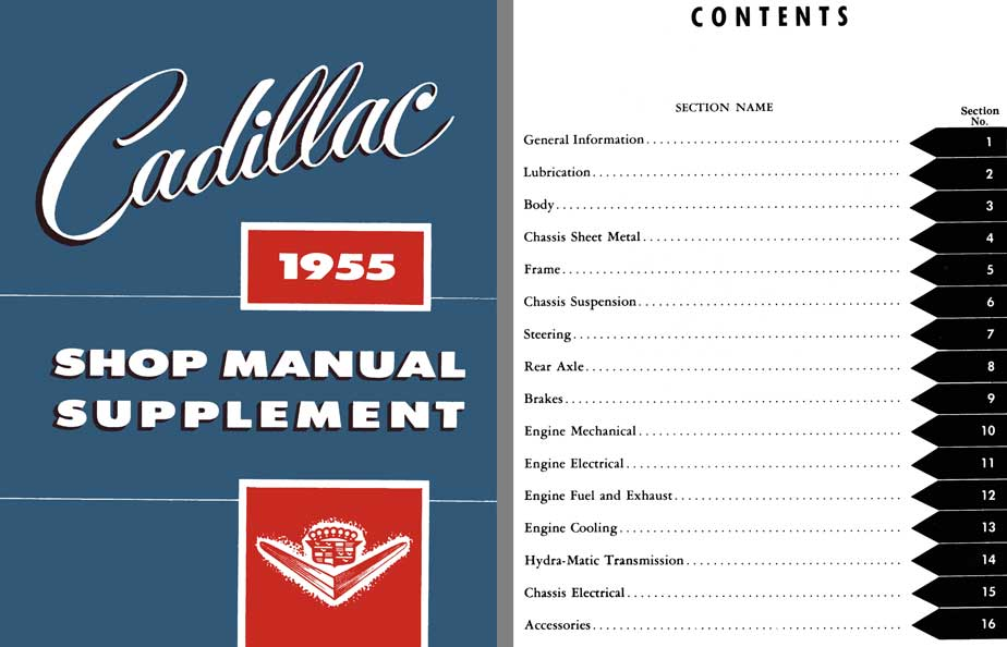 Cadillac 1955 Shop Manual Supplement