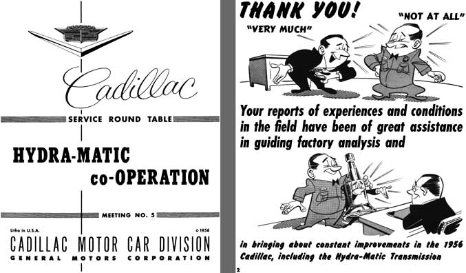 Cadillac 1956 - Cadillac Service Round Table Hydra-Matic co-Operation Meeting No. 5