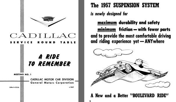 Cadillac 1957 - Cadillac Service Round Table Meeting No. 1 - A Ride to Remember