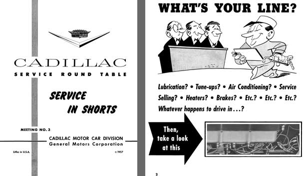 Cadillac 1957 - Cadillac Service Round Table Meeting No. 3 - Service in Shorts