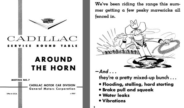 Cadillac 1957 - Cadillac Service Round Table Meeting No. 7 - Around the Horn