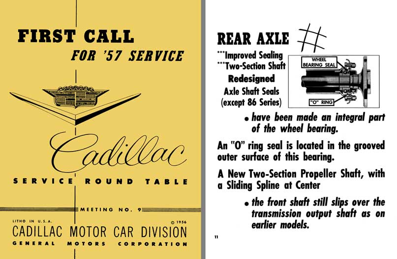 Cadillac 1957 - First Call for 57 Service - Cadillac Service Round Table Meeting No. 9