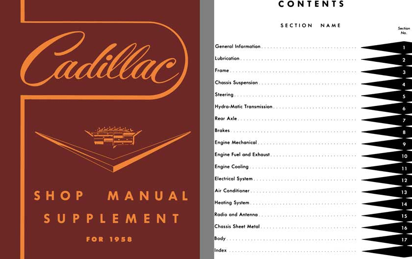 Cadillac 1958 - Cadillac Shop Manual Supplement for 1958 - Model 58-62, 60S, 75 Cars & 86 Comm. Cars