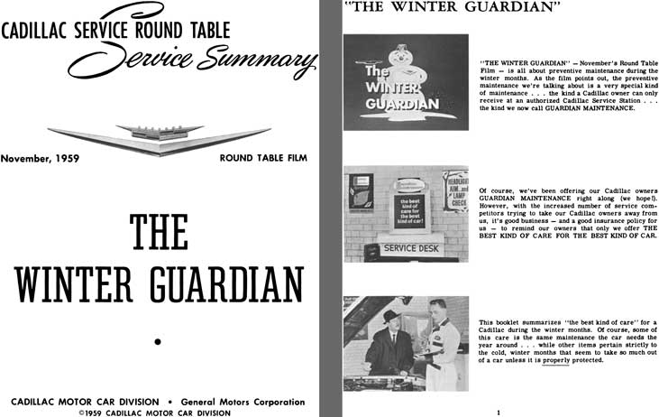 Cadillac 1959 - Cadillac Service Round Table Service Summary November 1959 - The Winter Guardian