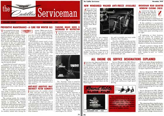Cadillac 1959 - the Cadillac Serviceman Vol. XXXIII - No. 11 November 1959