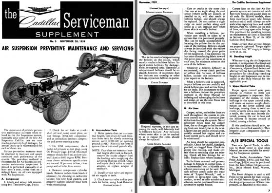 Cadillac 1959 - the Cadillac Serviceman Supplement No. 3 - November 20, 1959
