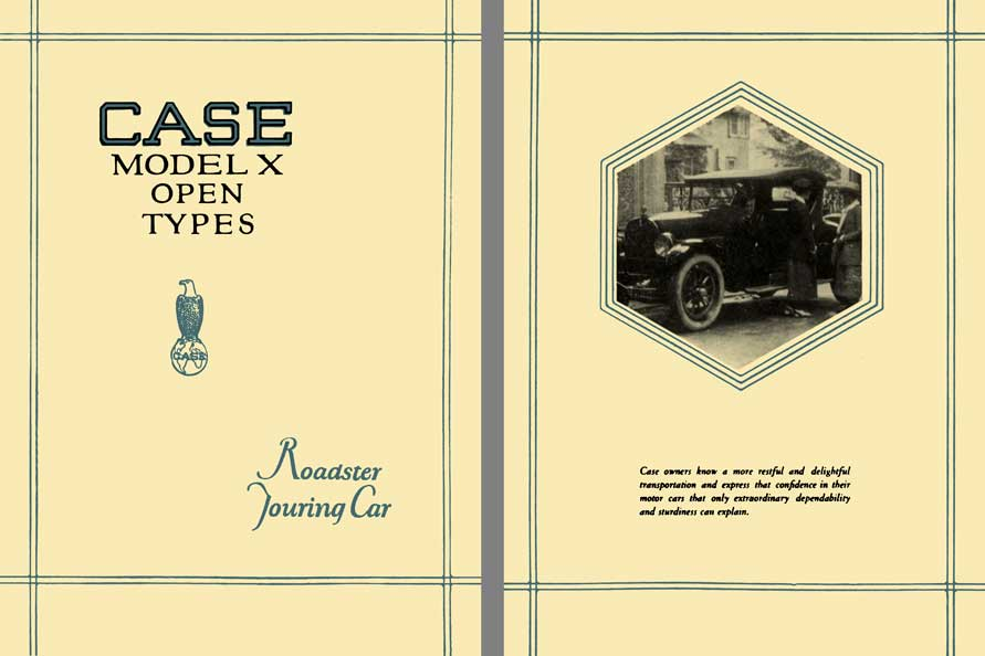 Case 1922 - Case Model X Open Types Roadster Touring Car