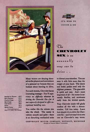 Chevrolet 1930 - Chevrolet Ad - It's Wise To Choose A Six  The Chevrolet Six - Model Pricing