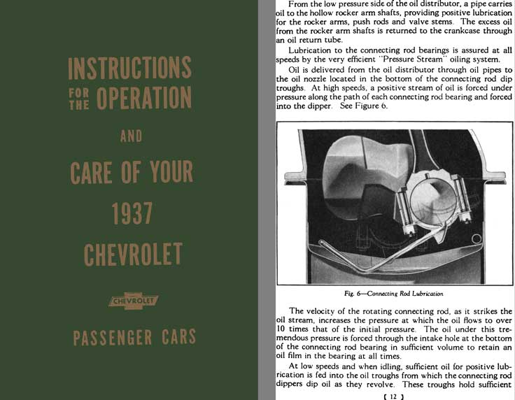 Chevrolet 1937 - Instructions for the Operation & Care of Your 1937 Chevrolet - Passenger Cars
