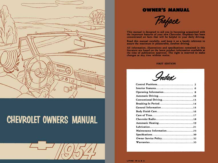 Chevrolet 1954 - Chevrolet Owners Manual 1954