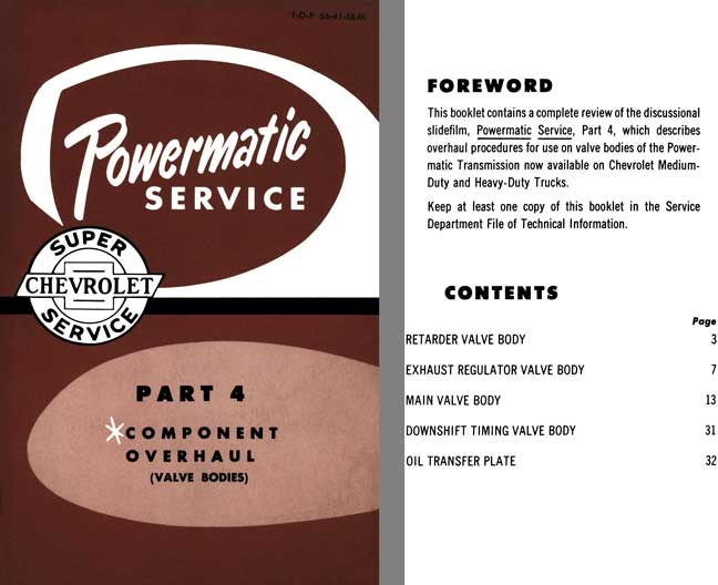 Chevrolet 1956 - Powermatic Service - Part 4 Component Overhaul (Valve Bodies)