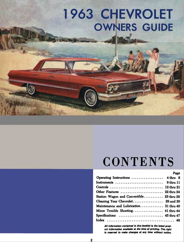 Chevrolet 1963 - 1963 Chevrolet Owners Guide