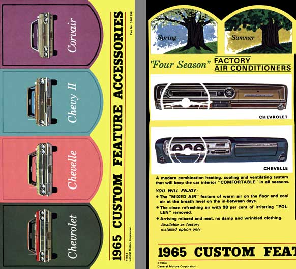Chevrolet 1965 - 1965 Custom Feature Accessories