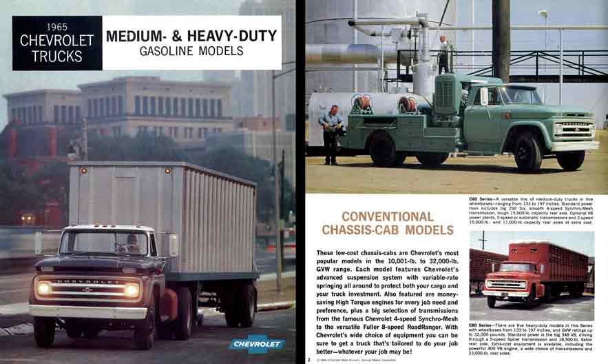Regress press chevrolet 1965 trucks medium and heavy duty gasoline models General motors medium duty trucks