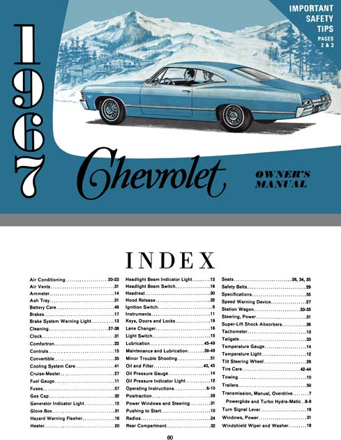 Chevrolet 1967 - 1967 Chevrolet Owner's Manual