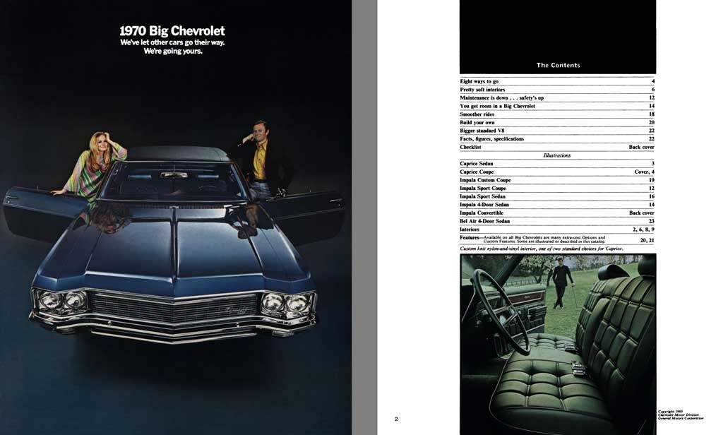 Chevrolet 1970 - 1970 Big Chevrolet - We've Let Other Cars Go Their Way.  We're Going Yours.