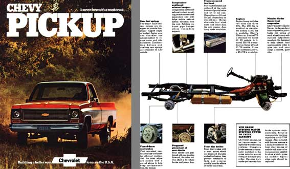 Chevrolet 1973 - Chevy Pickup  It never forgets it's a tough truck