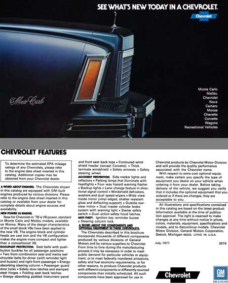Chevrolet 1977 - See What's New Today in a Chevrolet