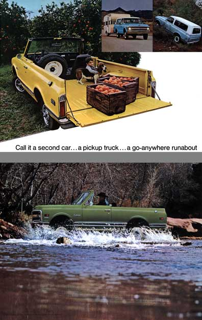 Chevrolet (c1970) - Call it a second car - a pickup truck - a go-anywhere runabout
