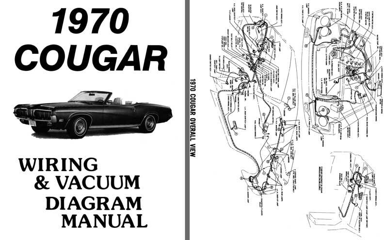 Cougar 1970 - Wiring & Vacuum Diagram Manual