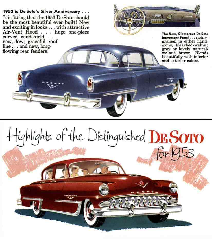 DeSoto 1953 - Highlights of the Distinguished DeSoto for 1953