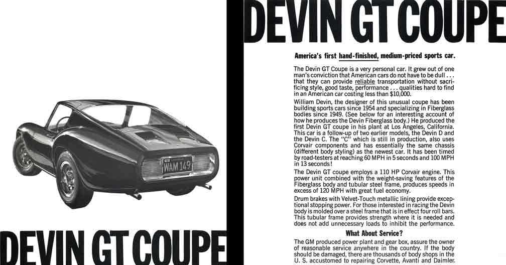 Devin GT Coupe 1964