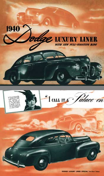 Dodge 1940 - 1940 Dodge Luxury Liner with New Full-Floating Ride
