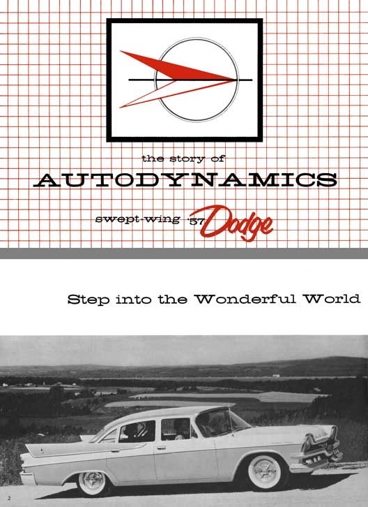 Dodge 1957 - the Story of Autodynamics - Swept-Wing 57 Dodge