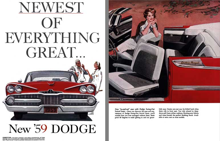Dodge 1959 - Newest of Everything Great - New '59 Dodge