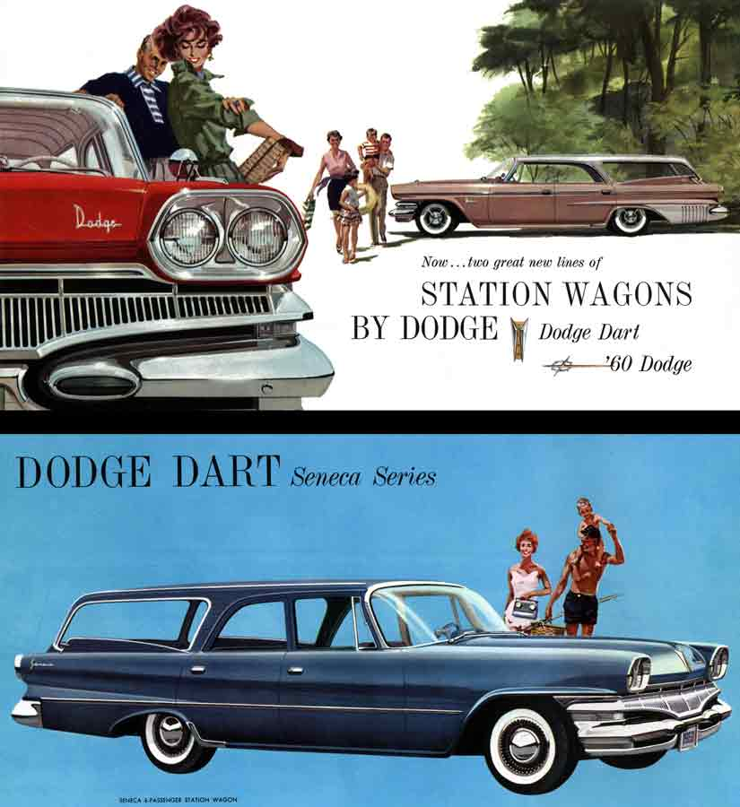 Dodge 1960 - Station Wagons by Dodge - Now ~ two great new lines of Station Wagons by Dodge