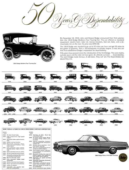 Dodge 1964 - 50 Years Of Dependability