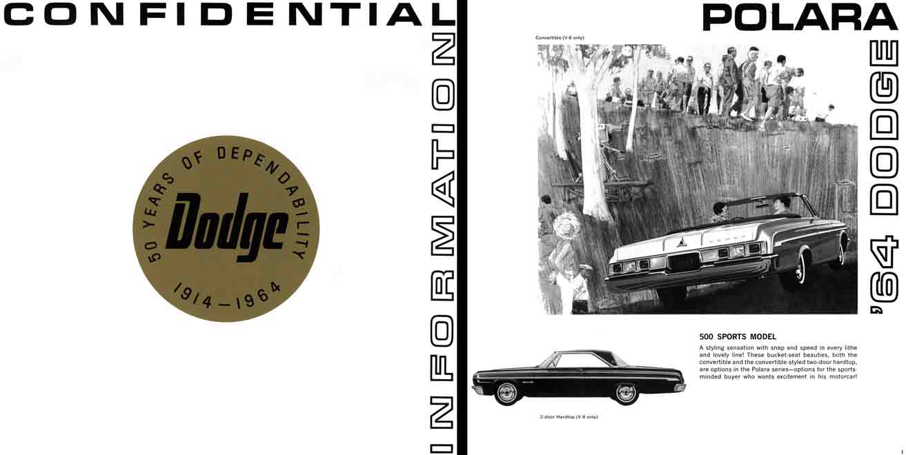 Dodge 1964 - Confidential Information - 50 Years of Dependability Dodge 1914 - 1964