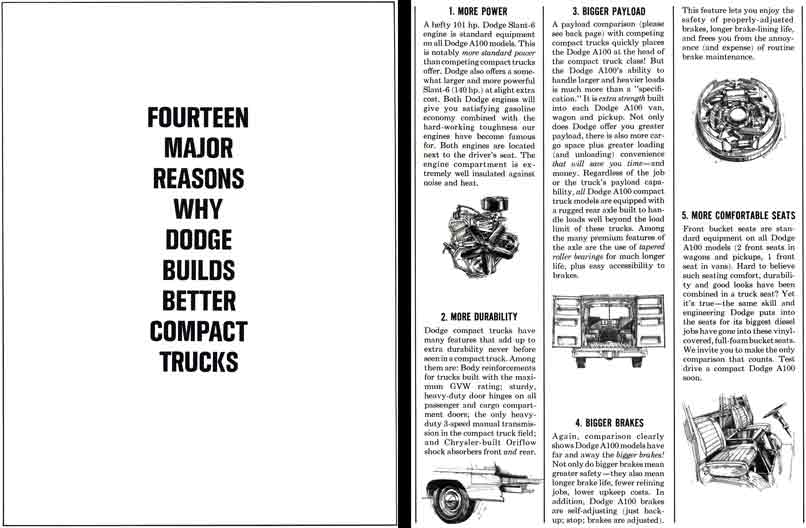 Dodge 1964 Trucks - 14 Major Reasons Why Dodge Builds Better Compact Trucks