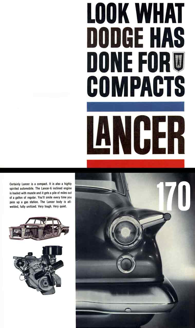 Dodge Lancer 1961 - Look What Dodge Has Done For Compacts: Lancer