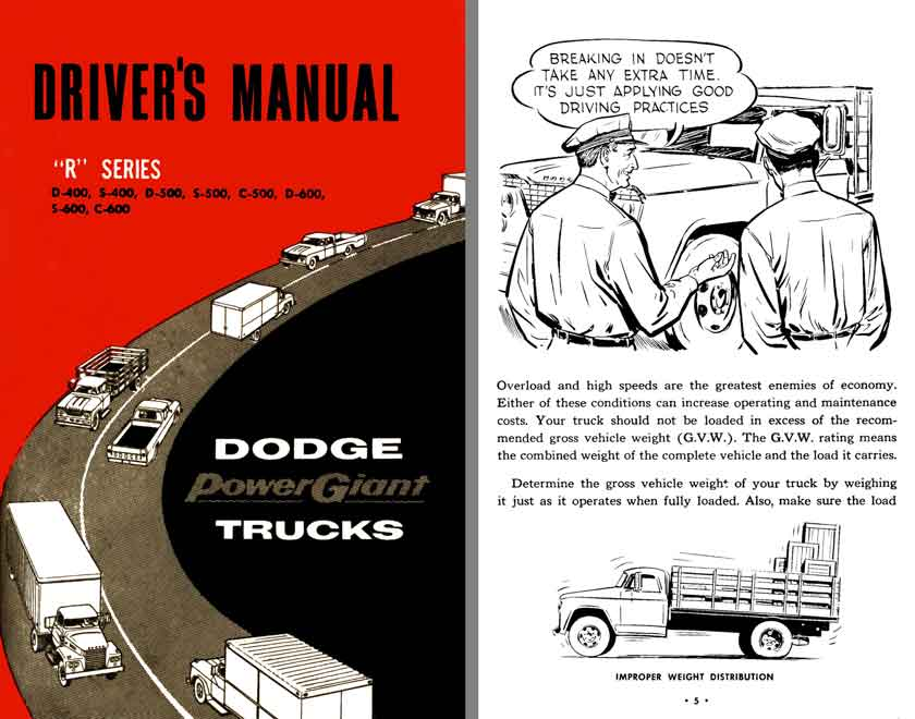 Dodge Power Giant Trucks 1961 - Drivers Manual