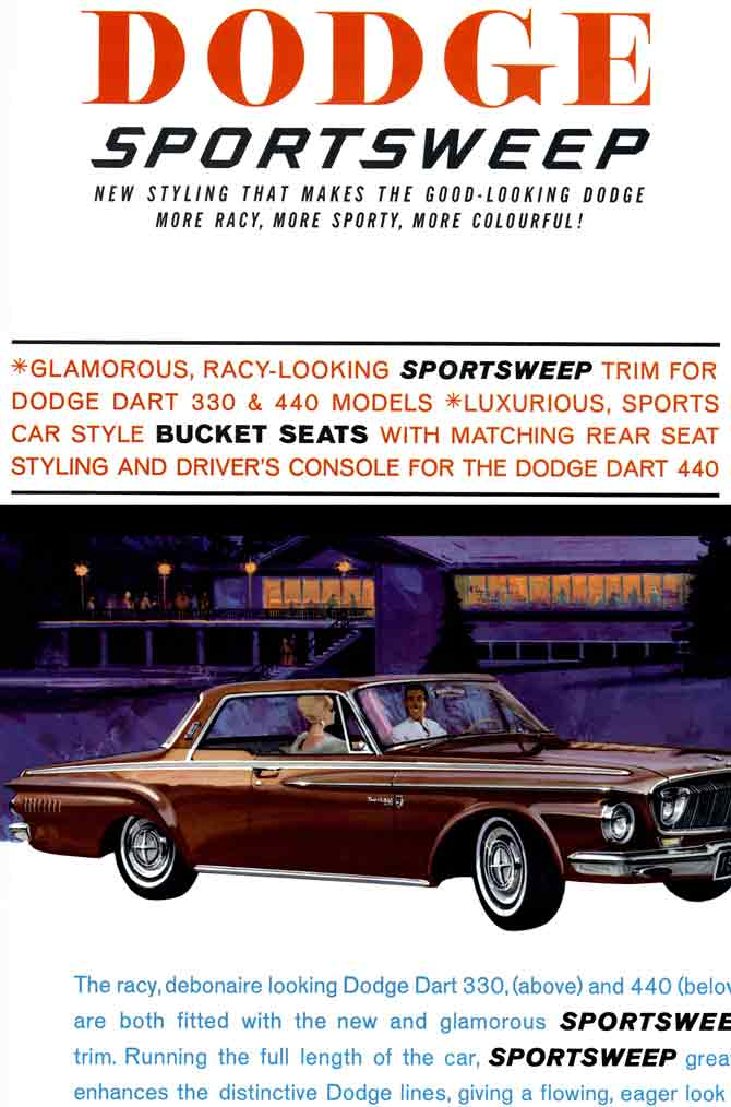 Dodge Sportsweep 1962 - Good Looking Dodge More Racy, More Sporty, More Colourful!