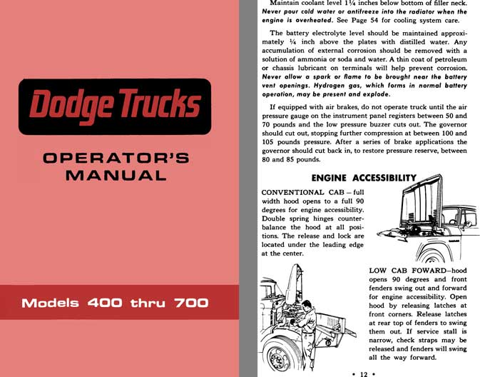 Dodge Truck 1967 - Dodge Trucks Operator's Manual Models 400 thru 700