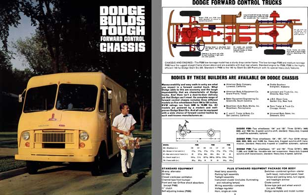 Dodge Trucks c1966 - Dodge Builds Tough Forward Control Chassis