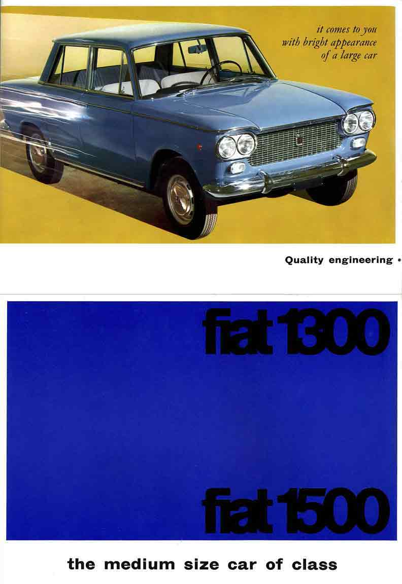 Fiat 1300 & Fiat 1500 (1961) - the medium size car of class ...