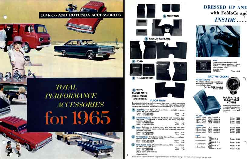 FoMoCo and Rotunda Accessories Ford 1965 - Total Performance Accessories for 1965