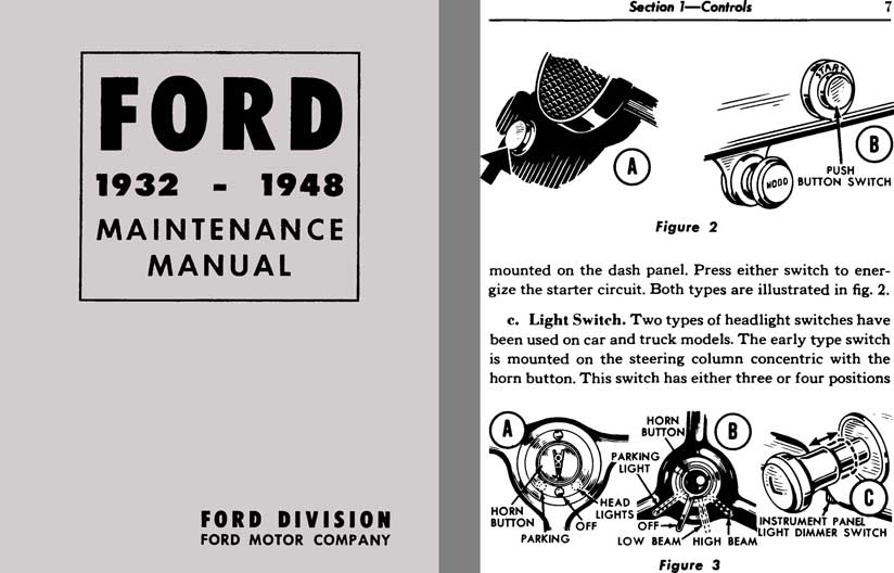 Ford 1932 - 1948 Maintenance Manual