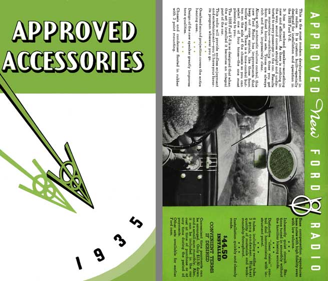 Ford 1935 Accessories -  Approved Accessories 1935