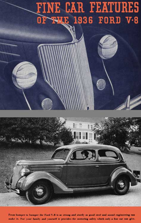 Ford 1936 - Fine Car Features of the 1936 Ford V-8