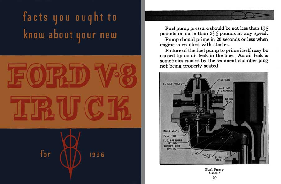 Ford 1936 - Ford V8 Truck for 1936 - facts you ought to know about your new Ford V-8 Truck